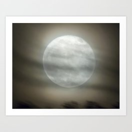 The Moon by Murray Bole Art Print