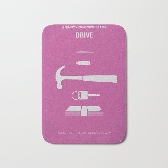 No258 My DRIVE minimal movie poster Bath Mat