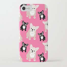 French Bulldog Puppies Pink iPhone Case