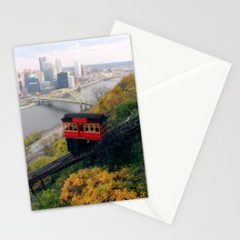 An Autumn Day on the Duquesne Incline in Pittsburgh, Pennsylvania Stationery Cards