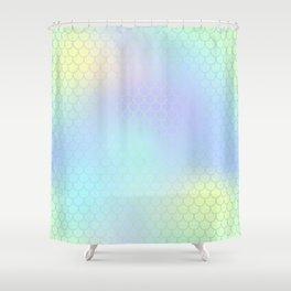 Aqua Green Mermaid Tail Abstraction Shower Curtain
