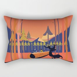 Big Red Sur Rectangular Pillow