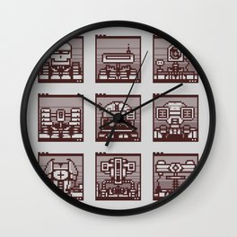 Robot Mugshots Wall Clock