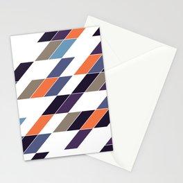 Parallelogram Traffic Geometric Purple Blue Olive Orange Beebus Marble Stationery Cards