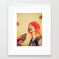 hayley williams Framed Art Prints featuring Hayley Williams by Mary Agoncillo
