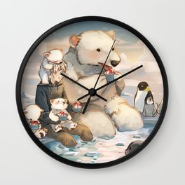 Jack and Polar Bear Wall Clock