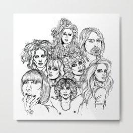 MUSIC Metal Print