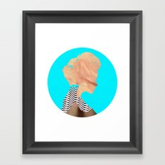A strange kind of woman · the blue one · Crop Circle Framed Art Print