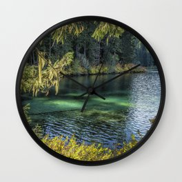 Emerald Tones of Clear Lake Wall Clock