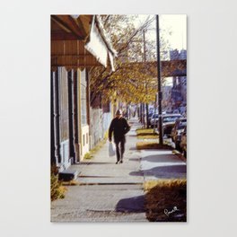 Street Scenes - Senior Walk Canvas Print