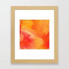 Orange watercolor paint vector background Framed Art Print