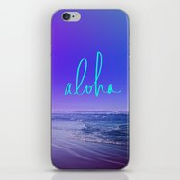 aloha iPhone & iPod Skins featuring Aloha by Leah Flores