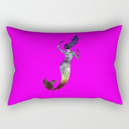 Galaxy Mermaid 2 (Pink) Rectangular Pillow