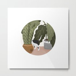 There is a Cat Metal Print