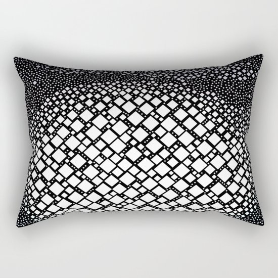Diamonds and Dots Rectangular Pillow