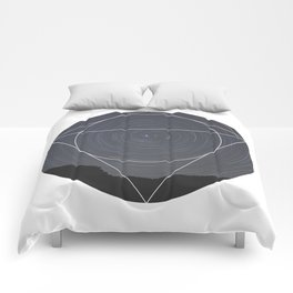 Spinning Universe - Geometric Photography Comforters