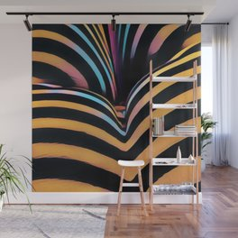 2026s-AK Striped Body Curves by Chris Maher Wall Mural