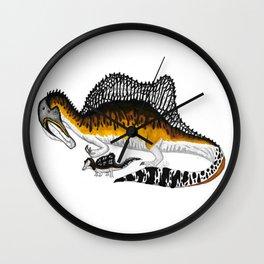 Spinosaurus mother and juvenile Wall Clock