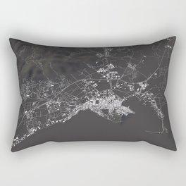 Ibiza City Map  Rectangular Pillow