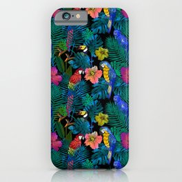 Tropical Birds and Botanicals iPhone Case