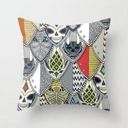 gothic shields Throw Pillow