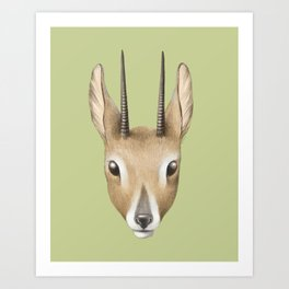 Antelope (colour) Art Print