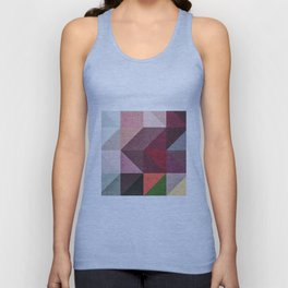 Warm Textured Chevron Geometrical Pattern Unisex Tank Top