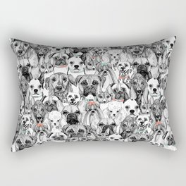 just dogs coral mint Rectangular Pillow