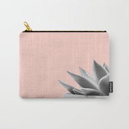 peach with black and white succulent Carry-All Pouch
