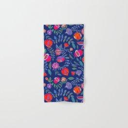 Pomegranate pattern electric blue Hand & Bath Towel