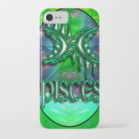 astrology iPhone & iPod Cases featuring Pisces Zodiac Sign Astrology by CAP Artwork & Design