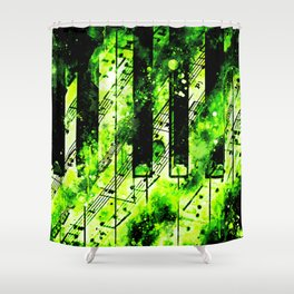 piano keys and music sheet pattern wseegr Shower Curtain