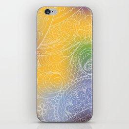 zen pattern on yellow-blue gradient iPhone Skin