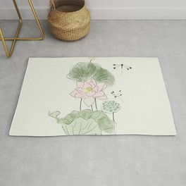 Pond of tranquility Rug