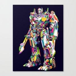 Transformer in pop art Canvas Print