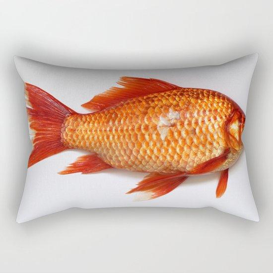 Red Gold Fish Rectangular Pillow