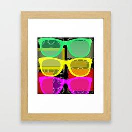 Retro Series 19 - Neon glasses Framed Art Print