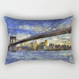 Brooklyn Bridge New York Art Rectangular Pillow