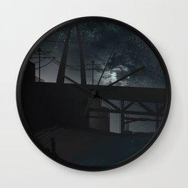 Slight Night Shiver Wall Clock