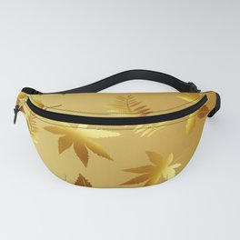 Gold leaves Fanny Pack