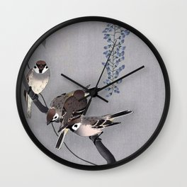 Wisteria Songbirds Wall Clock