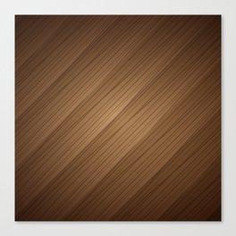 Slanted Texture On Wood Canvas Print