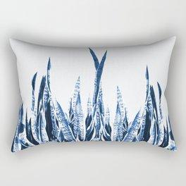 Blue Duotone Rectangular Pillow