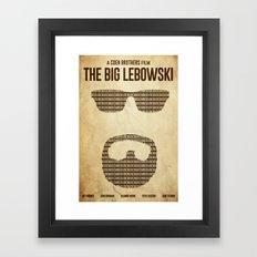 White Russian - The Big Lebowski Poster Framed Art Print