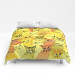 Yellowstone Whimsical Cats Comforters