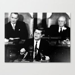 Kennedy Announces Mission To Moon Canvas Print