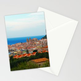 Cityscape of Cefalu Italy Stationery Cards