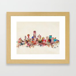 Dallas city texas Framed Art Print
