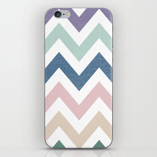 MUTED CHEVRON {COOL TONES} iPhone & iPod Skin