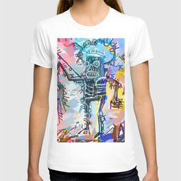 A digitally and roughly vectorised Jean Michel Basquiat T-shirt